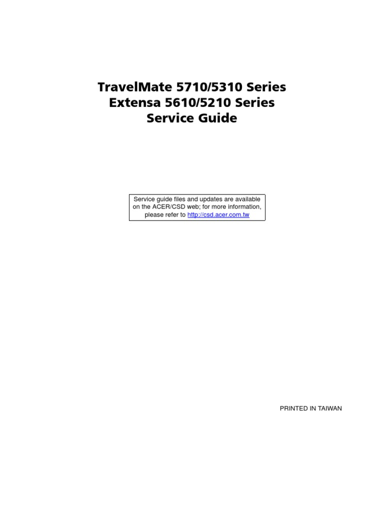 Service Manual Acer TravelMate 5710 5310 Extensa 5610 5210 | Computer  Keyboard | Bios