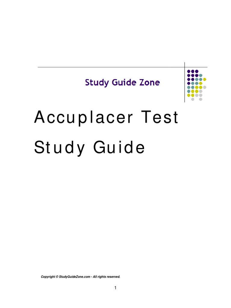 Free Accuplacer Test Study Guide | Arithmetic Mean | Average
