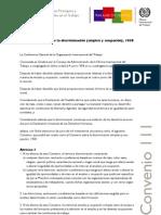 C111OIT Sobre Discriminacion y Trabajo