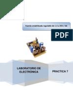 Práctica 7 Fuente estabilizada regulable de 1.2 a 25V 4A OK