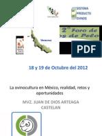 Situcion Actual y Retos de La Ovinocultura en Mexico 2012-Veracruz