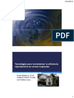 Tecnologías eficiencia reproductival
