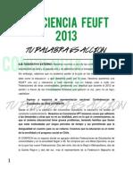 Conciencia Uft - Eje Federativo Externo - Feuft 2013