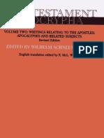 New Testament Apocrypha; II- Writings Relating to the Apostles (1992)
