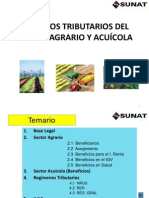 SECTOR AGRARIO Y ACUÍCOLA  al 12.04.2011