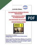 La organización británica Amnistía Internacional busca imponer el aborto en Hispanoamérica con financiación de la Fundación Ford de Estados Unidos