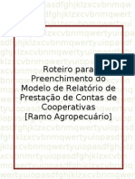 Agropecuario - Roteiro Para Preenchimento Do Modelo de Relatorio de Gestao e Prestacao de Contas de Cooperativas