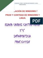 Instalacion de Windows 7 y Pros y Contras
