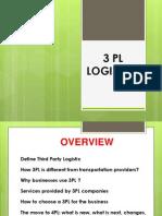 My Ppt on 3 Pl Logistics (1)