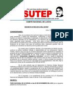 22 Noviembre Decreto de Paro Nacional 2012