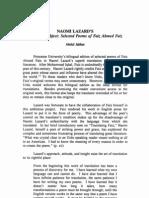 Jabbar 91 Faiz 1988 True Subject Selected Lazard Review