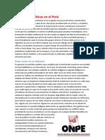 Elecciones políticas en el Perú