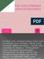 Konsttusi Yang Ppernah Di Gunakan Di Indonesia