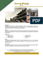 Savoy Kimberley Fact Sheet Apr2012