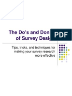 The Do's and Don'ts of Survey Design