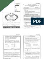 Model Paper of IIT Ramaih 2011