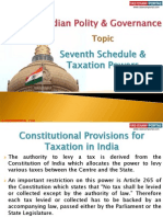 16(A) Seventh Schedule and Taxation Powers
