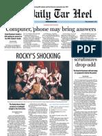 The Daily Tar Heel for November 9, 2012