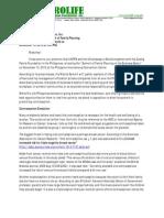 Prolife Position Paper on Manila Summit