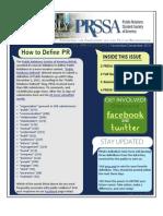 November-December 2011 PRSSA Newsletter