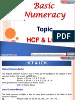 Basic Numeracy HCF LCM