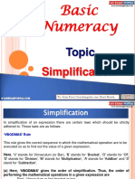 Basic Numeracy Simplification
