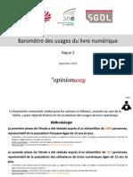 Baromètre livre numérique - Vague 2 - Pour présentation orale_VF