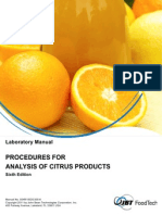 Procedures for Analysis of Citrus Products