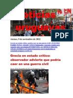 Noticias Uruguayas Viernes 9 de Noviembre Del 2012