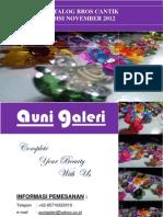 Katalog Bros Cantik Auni Galeri (November 2012)