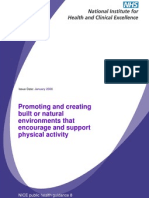 Promoting Built or Natural Environments That Encourage Physical Activity