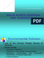 1)Solid Waste Disposal and Management