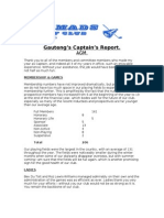 Captain's AGM Report- 2012