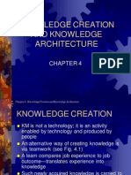 KNOWLEDGE CREATION AND KNOWLEDGE ARCHITECTURE