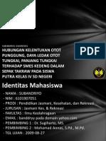 Hubungan Kelentukan Otot Pungg 6101907051