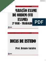 AULA 2a FASE - Aula 2 - Renato Saraiva