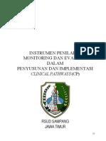 Dody Firmanda 2012 -. Instrumen Monitoring dan Evaluasi Clinical Pathways RSUD Sampang Jawa Timur