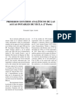 Primeros estudios analíticos de las aguas potables de Yecla (2a Parte).