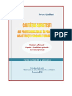 Ed.reviz.- Calitatile Sufletesti Ale Profesionistului in Asistenta Sociala Umanista, Spiritual Qualities of the Professional in Humanistic Social Work, Petru Stefaroi