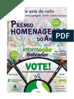 Regulamento - Prêmio Homenageado do Ano 2012 - InformAção Salvador