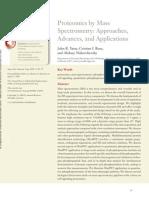 Proteomics by Mass Spectrometric