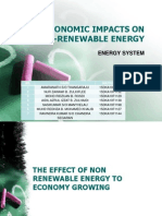 Socioeconomic Impacts on Non-renewable Energy