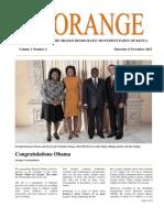 The Orange Newsletter Volume 1 Number 4. 8 November 2012