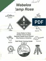 1991 Camp Ross Staff Week Training Guide