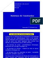 Methodes de Composition Du Beton