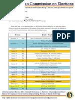 Memo 201222 - Ateneo COMELEC Calendar for SY 2012-13, 2nd Semester