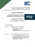 PROGRAMA - ColoquioInternacional RetosDemocraciaAL 15y16noviembre