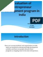 Evaluation of Enterprenur Prog in India