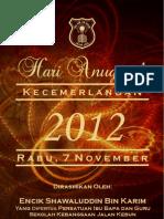 Buku Atur Cara Hari Anugerah Kecemerlangan 2012