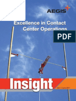 Aegis Insight Newsletter Vol. 5 - Excellence in contact center operations